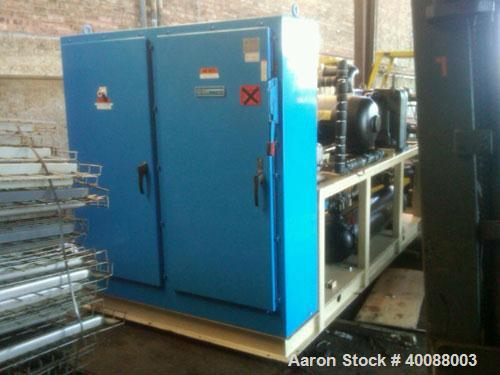 Used-Chilled Water System, 40 ton, water cooled, with Copeland screw compressor, semi-hermetic compact, 140 hp, 480V. Hours ...