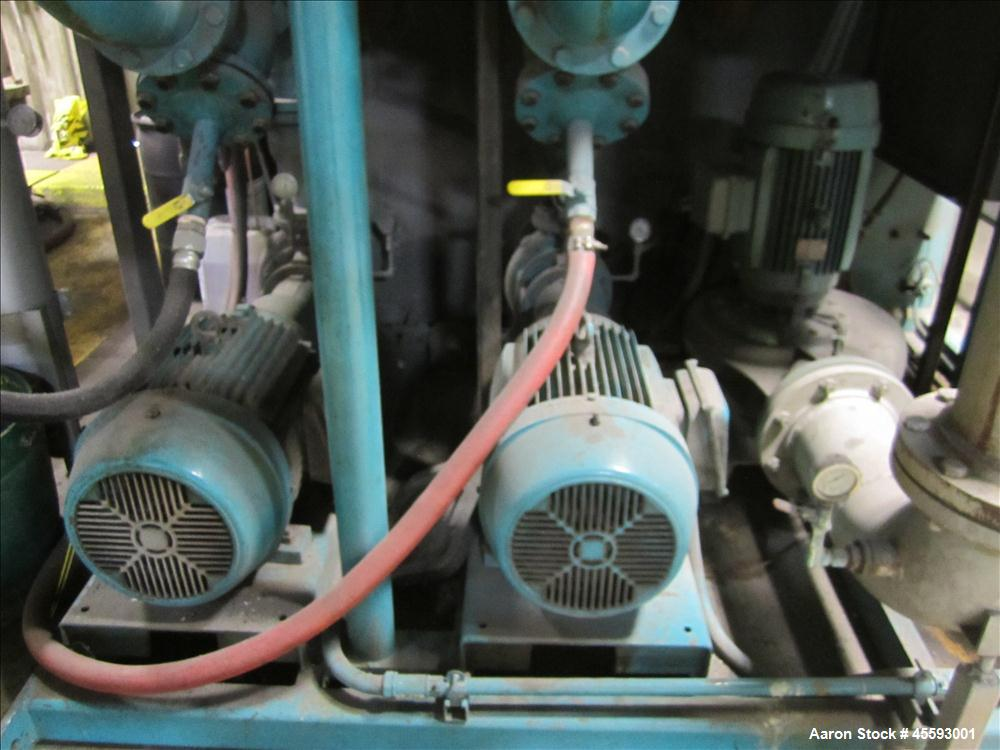 Used-Chiller tank c/w pumps & (2) units on the roof