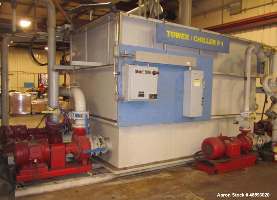 Used-Cooler chiller system c/w 2002 DHP filter press, heat exchanger, pumps, holding tanks,