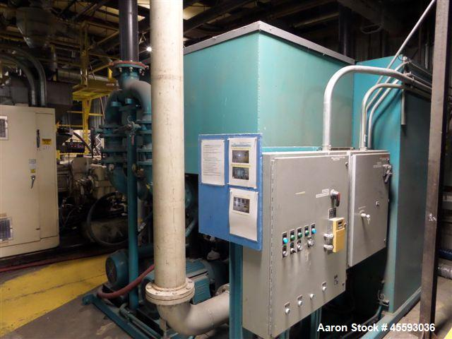 Used-2000 Cimco chilling system c/w (2) 50 hp process & 25 hp circulation transfer pumps, 4' x 8' x8' storage holding tank, ...