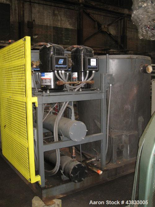 Used- 40 Ton Advantage Chiller, Titan series, model TIP-40W-43HRX, water cooled, R22 refrigerant, 460 volt, new 2005.