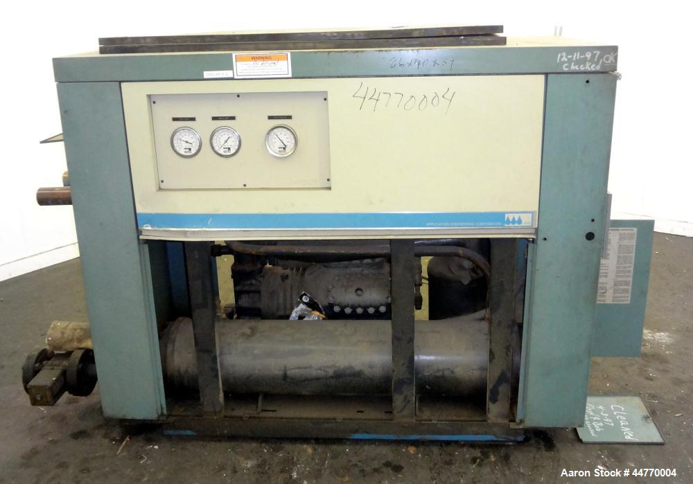 Used- AEC Water Cooled Chiller, Model QWC-30-CB. Cooling capacity 30 tons, chilled water 72 gallons per minute. Minimum temp...