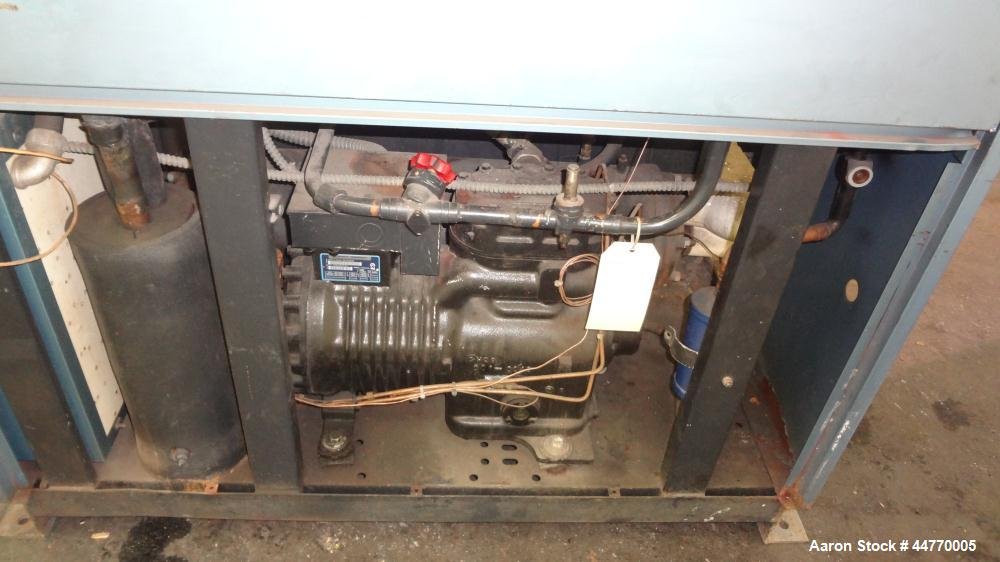 Used- AEC Water Cooled Chiller, Model WC-15-Q. Cooling capacity 15 tons, chilled water 36 gallons per minute. Minimum temper...