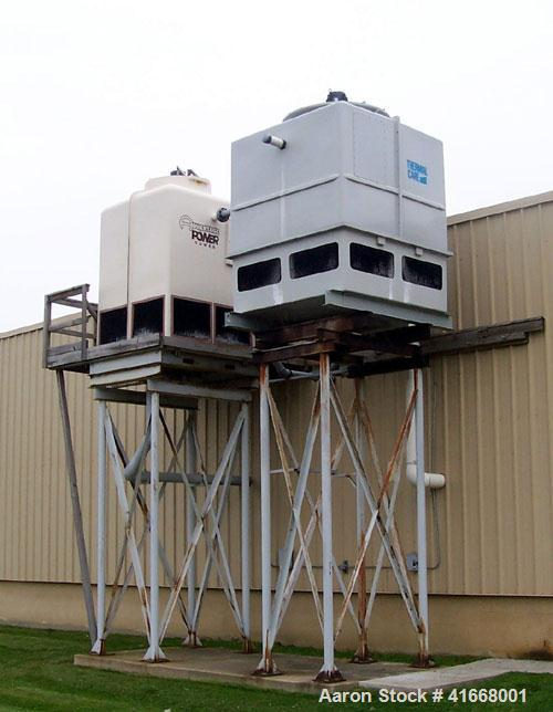 Used-AEC Chiller, 1100 Gallons, Thermal Care (water cooled) with steel deck. Includes 80 ton and 100 ton cooling towers with...