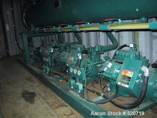 USED: Berg package water cooled chiller, 105 ton capacity,model WCS103-3X-HX, SN-W7541-0796. Copelametic Model 6DN3-3500TSE,...