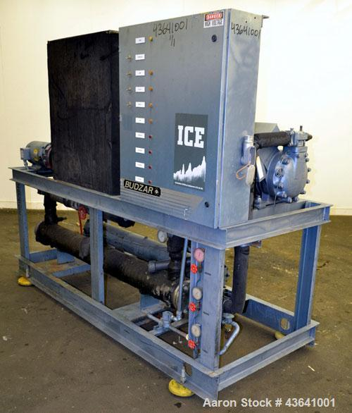 Used- Budzar Industries Self-Contained Water Cooled Indoor Chiller, Model WP-16-