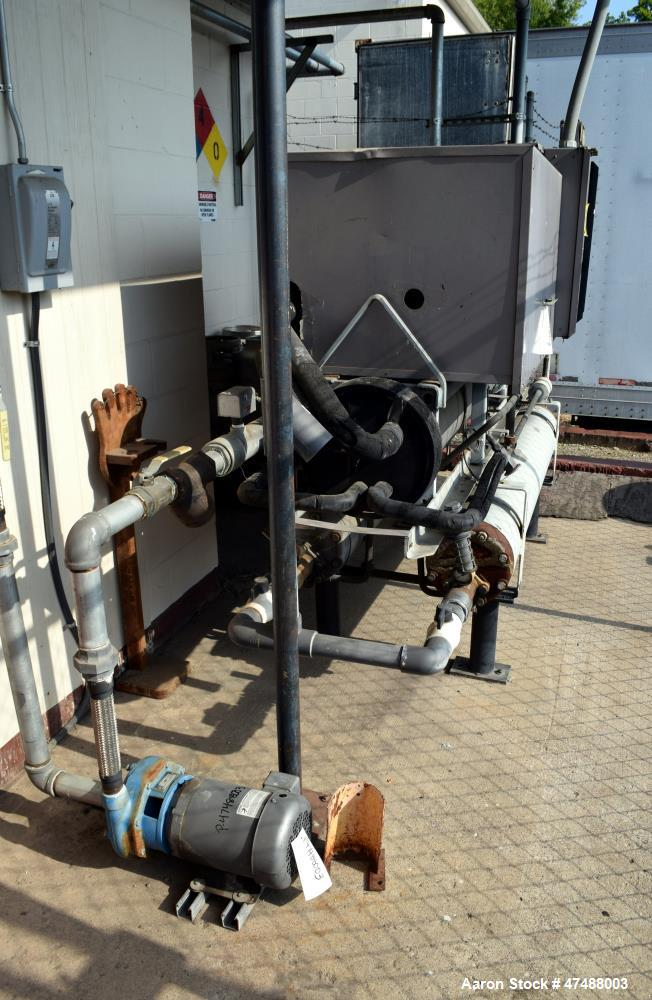 Used- Carrier Reciprocating Liquid Chiller, Model 30HK-050-650. Nominal 50 Ton. Design pressure high side 385 psig, low side...