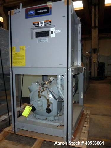 Used- Carrier Water Cooled Chiller, Model 30HWB025-A-500KA.