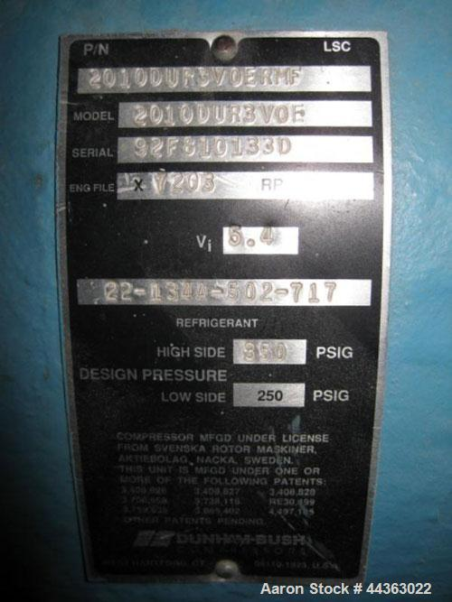 Used- 40 Ton Dunham Bush Package Chiller, Model IPCX-230-OVO