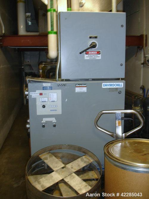 Used- EnviroTempChiller,40 Tons. Water cooled, dual compressor with heat exchanger. Price includes 15% buyer's premium.