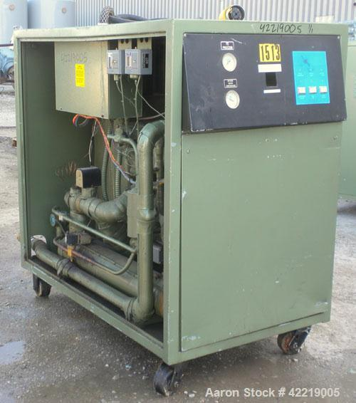 Used- Thermal Care/Mayer Portable Accu-Chiller, model AQOW0803X, water cooled. Approximate 7.5 tons cooling capacity. Temper...