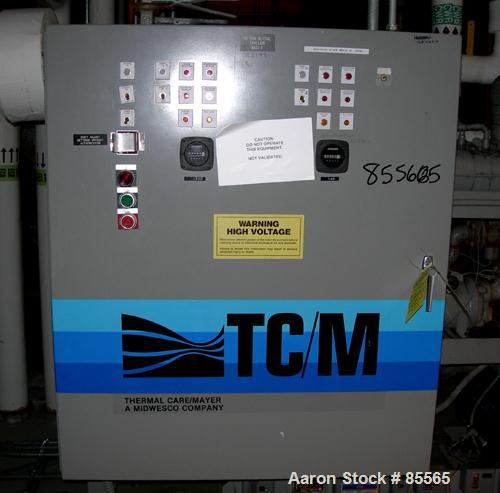 Used- Thermalcare/Meyer Semi-Hermetic Central Chiller, 20 Ton, Model TPW20X, Water Cooled. 40 Degrees F. capacity 3/60/460 v...