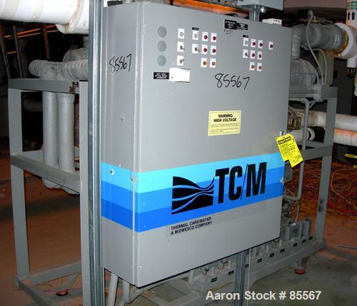 USED: Thermalcare/Meyer semi-hermetic central chiller, 50 ton, model TPW50X, water cooled, 40 degrees F. Capacity 3/60/460 v...