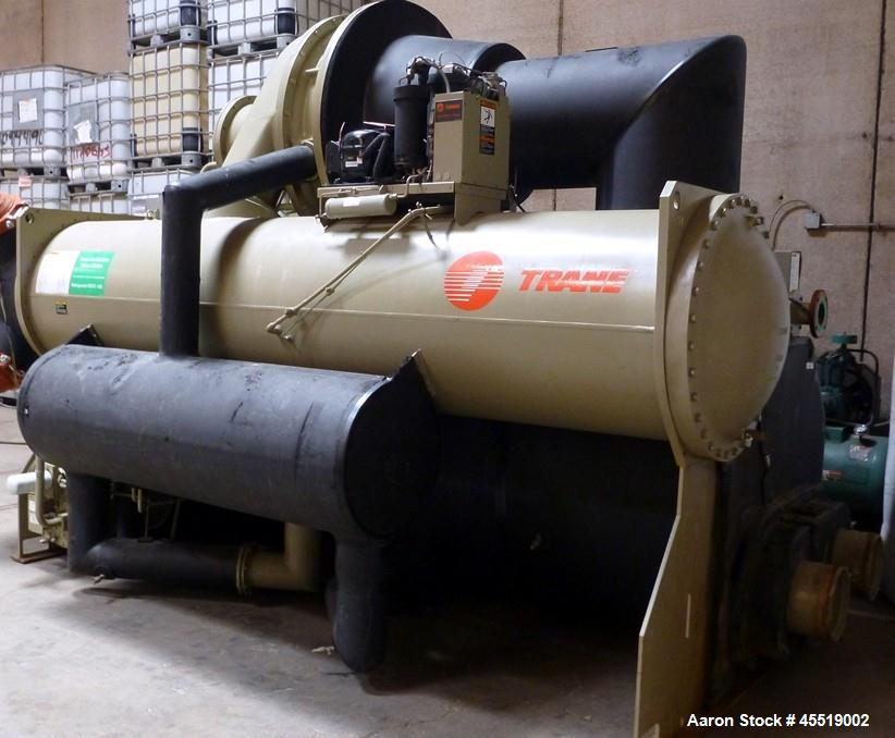 Used- Trane Water Cooled Centrifugal Chiller, Model CVHF485