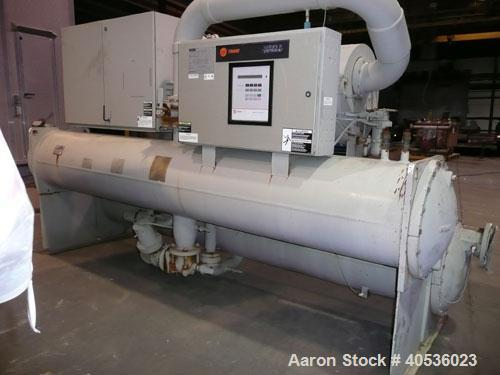 Used-Trane 300 ton, model RTHB300 screw chiller. 460/3/60 volts with only 2,070 run hours since new.
