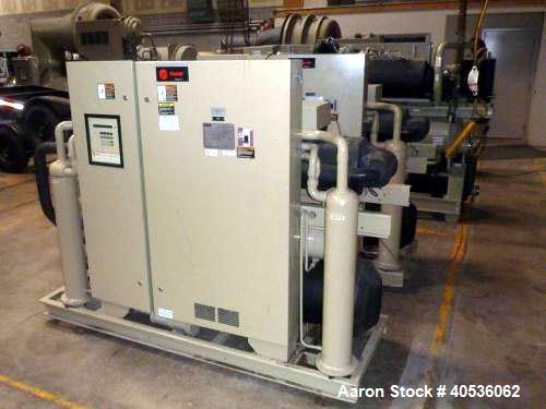 Used- Trane Water Cooled Chiller, Model RTWA0804YD01C3D0WFN. Nominal 80 Ton. Designed for 460/3/60 volt operation. Includes ...