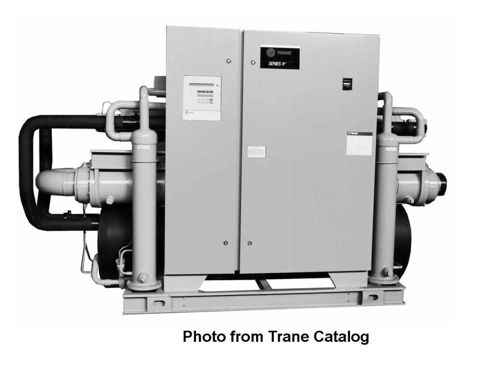 Used- Trane Water Cooled Chiller, Model RTWA080AYE01C0C0W.