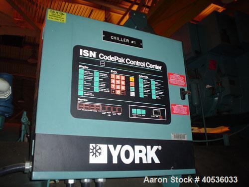 Used-York 2000 ton, model YKRESBJ4DHC, centrifugal compressor. 4160/3/60 volts, 134a refrigerant.