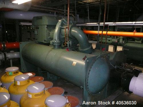 Used-York 2000 ton, model YKS2S2J4DFB, centrifugal compressor. 4160/3/60 volts, 134a refrigerant, with ONLY 14,000 hours sin...