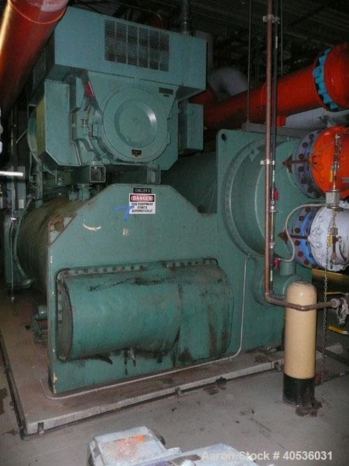Used-York 2000 ton, model YKWHVDJ4DFE, centrifugal compressor. 4160/3/60 volts, 134a refrigerant, with low hours since new.