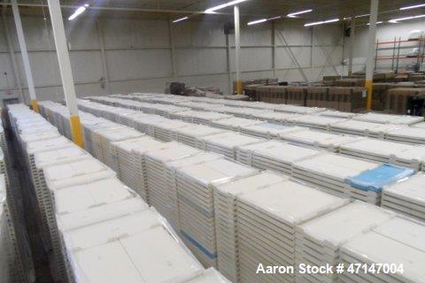 Used- MFG Molded Fiberglass Trays, Model 868-008. Trays (7600) available.