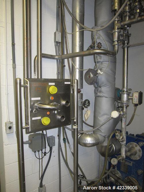 """Used-3 Tank CIP System rated at 150 GPM consisting of the following:  (3) Tanks each 475 gallon, stainless steel, 48"""" diamet..."""