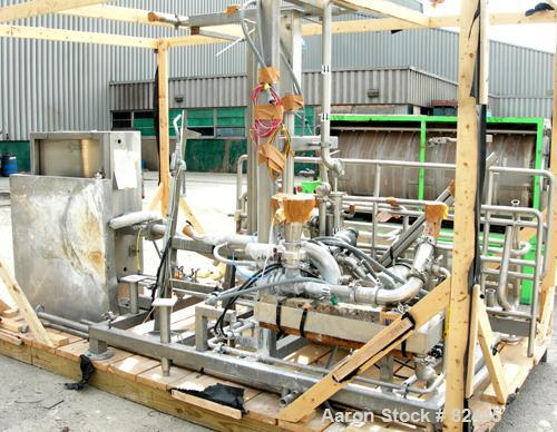 USED: CIP system consisting of (1) Fristam centrifugal pump, model FP732-150, driven by a 10 hp motor; (1) Fristam centrifug...