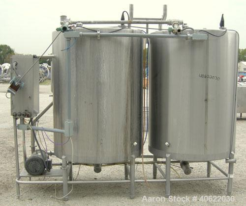 Used- DEC International Sani-Matic CIP System, consisting of: (2) approximate 400 gallon 304 stainless steel tanks. Each tan...