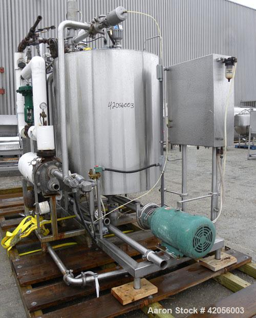 "Used- Hartel Clean In Place CIP System consisting of: (2) Hartel 400 gallon, 304 stainless steel tanks, 48"" diameter x 53"" s..."