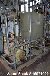 Used- Clean In Place CIP System Consisting Of: (1) Approximate 150 gallon stainless steel tank, (1) shell & tube heat exchan...
