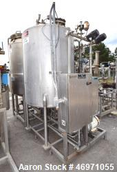 Used- Hartel Clean In Place CIP System Consisting Of: (1) Waukesha Cherry-Burrell pressure tank, 396 gallon, 316L stainless ...