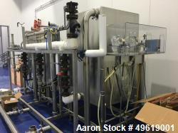 "Used- Sanimatic CIP System. Consists of 3 Square Stainless steel Tanks. Tanks 1 and 2 are 42"" wide x 42"" long x 46"" high, fl..."