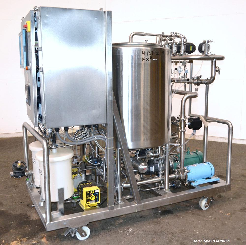 "Used- Portable Clean In Place System (CIP) consisting of: (1) 100 gallon 316 stainless steel tank, approximately 30"" diamete..."