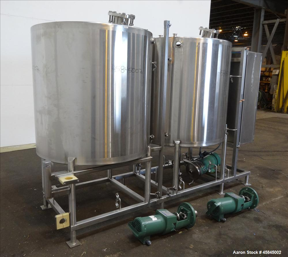 Used- Sani-Matic Clean-In-Place Two Tank System