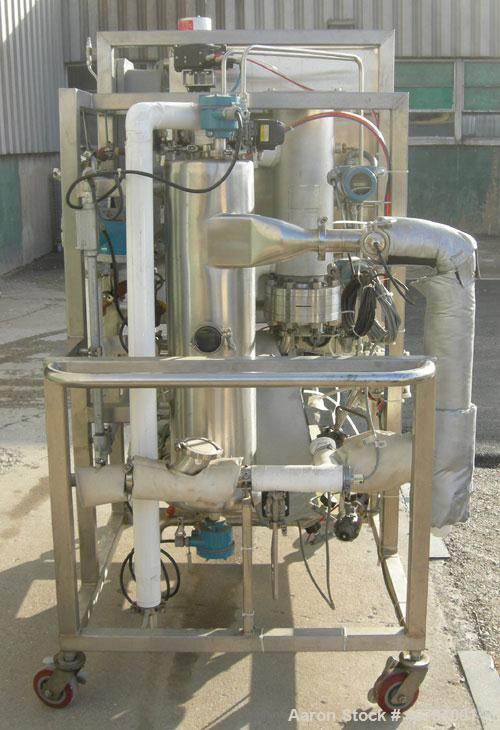 Used- Sani-Matic Ultra-Flow Stainless Steel CIP System Consisting Of: (1)  10 gallon 2 section vertical tank; (1) Fristam ce...