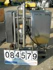 USED: CIP system consisting of (1) 39 gallon 304 stainless steel tank, open top, no cover, flat bottom. 2