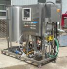 Used- Pro Controls CIP System consisting of: (1) 200 Gallon 316 stainless steel vertical tank; (1) Stainless steel shell and...