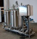 Used- Sani-Matic Stainless Steel CIP System Consisting Of: (2) Approximate 200 gallon tanks, (2) Ampco model 2-1/2X2DC2 cent...
