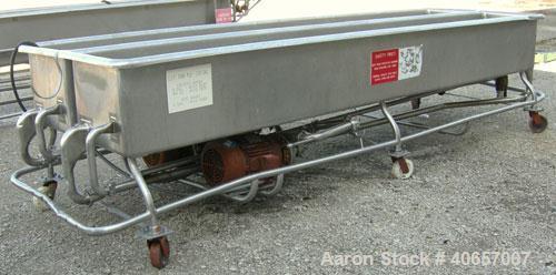"Used-SaniMaticduallanecleanoutofplace washer,400 gallon,304 stainless steel. (2) 20"" wide x 146"" long x 17"" deep lan..."