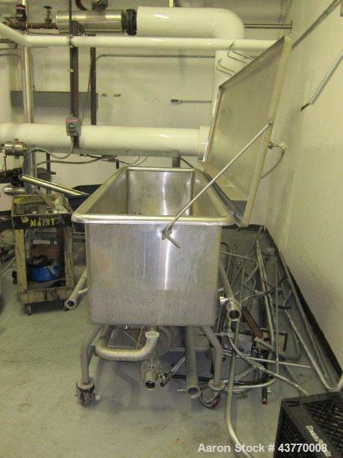 """Used-Sani-Matic COP tank; 24"""" x 72"""" x 22 deep; Installed never used. Has 5 HP motor, 230V. Does not have controls."""