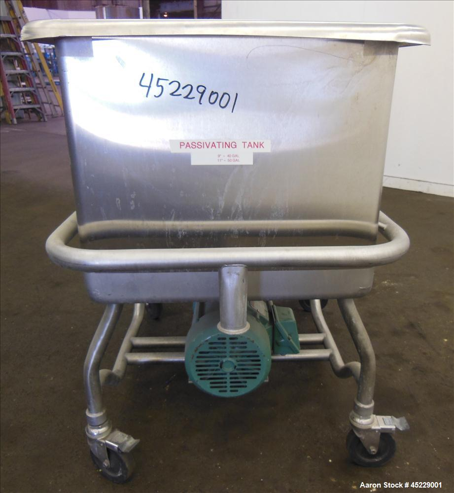 "Used- Safgard Clean Out Of Place COP Tank, 316 Stainless Steel. Approximately 80 gallon tank, 38"" long x 24"" wide x 21"" deep..."