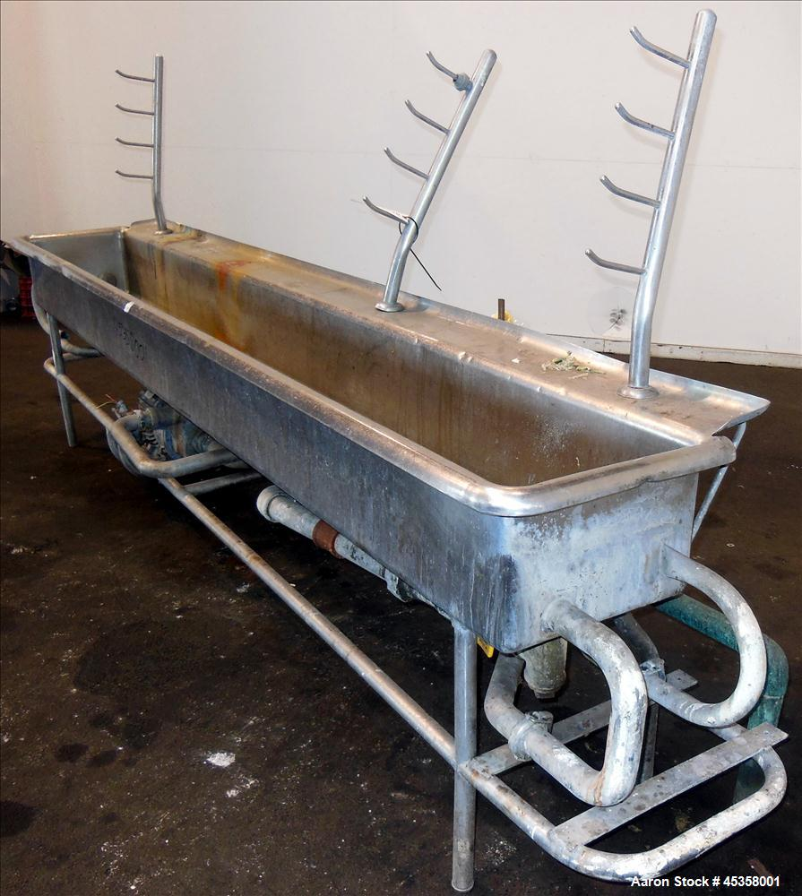 Used- 110 Gallon Stainless Steel Clean Out Of Place Tank