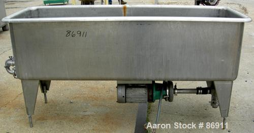"USED: Girton clean out of place washer, model PM6, 304 stainless steel. 170 gallon tank 24"" wide x 76"" long x 22"" deep. (2) ..."