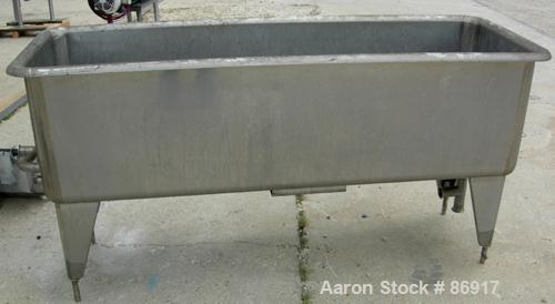 "USED: Girton clean out of place washer, model PM6, 304 stainless steel. 170 gallon tank 24"" wide x 76"" long x 22"" deep. 2"" e..."