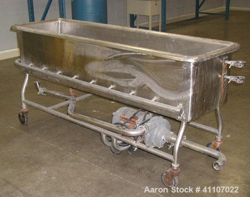 """Used- Clean Out Of Place Washer,  Approximately 100 gallons, stainless steel.  Trough  20"""" wide x  75"""" long x 17"""" deep. No t..."""