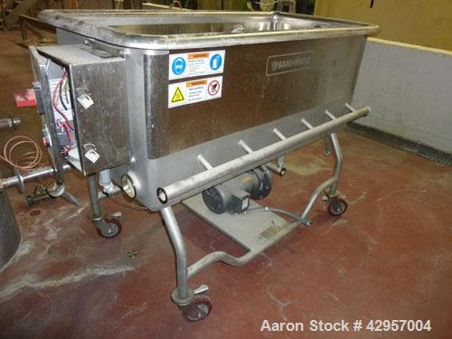 Used-Sani Matic 4' Long x 2' wide COP Tank, model RW0413MSN1, s/n COP1806, with 3 HP Centrifugal Pump on Castors