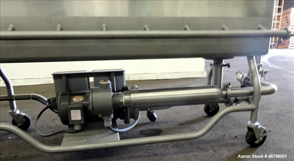 Used- Sani-Matic Portable Clean Out Of Place Tank, Model URWJ-175