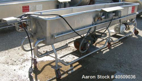 """Used- Sani-Matic Clean Out Of Place Washer, Model URWJS-12, 200 gallon, 304 stainless steel. 20"""" wide x 146"""" long x 17"""" deep..."""