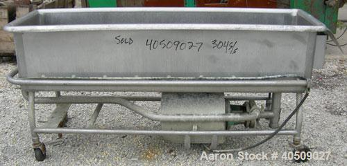 "Used- Sani-Matic Clean Out Of Place Washer, 100 gallon, 304 stainless steel. 20"" wide x 75"" long x 17"" deep. No top cover. (..."