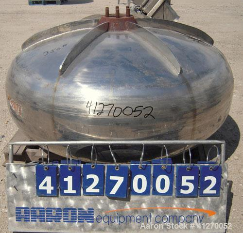 "Used- C. Skerman & Sons Coating Pan Only, 321 stainless steel. 60"" diameter x 30"" deep. 30"" diameter opening."